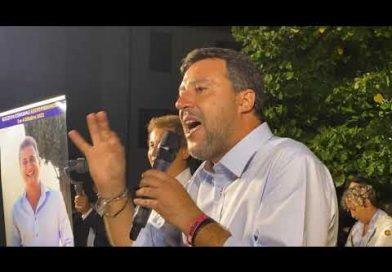 """MATTEO SALVINI SCATENATO A SESTO FIORENTINO: """"DOPO ANNI QNCHE QUI SI PUÒ CAMBIARE"""""""