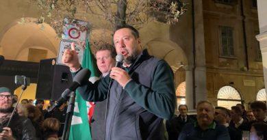 MATTEO SALVINI CHIUDE LA CAMPAGNA ELETTORALE A VARESE CON IL CANDIDATO SINDACO MATTEO BIANCHI